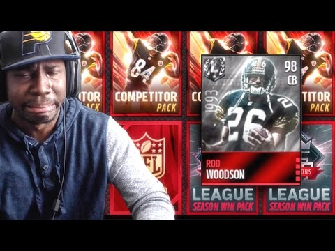 COMPETITOR PACK OPENING & ROD WOODSON! Madden NFL 16 Mobile Gameplay