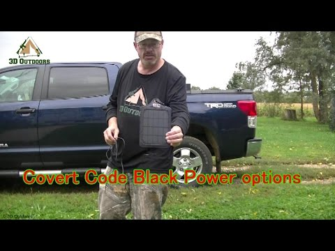 Covert Code Black Trail Camera Power Options