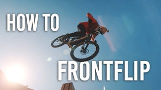 How To FRONTFLIP MTB/BMX (german/deutsch) - Luĸas Knopf im Skillspark Winterthur