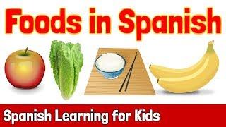 Baixar Foods in Spanish | Spanish Learning for Kids