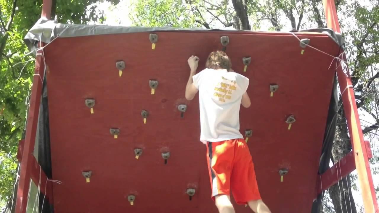 YouTube Premium - Homemade Backyard Bouldering/Rock Climbing Wall - YouTube