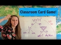 Simple Present Verbs & Be Verb: A Card Game
