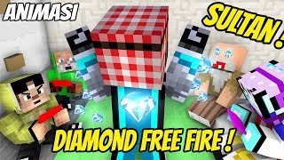 Lucu  Frostdiamond bagiin diamond free fire ( Animasi Minecraft Indonesia )