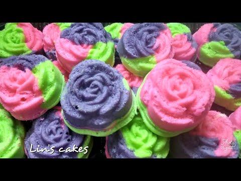 Bolu kukus mawar enak, lembut dan cantik. Cocok untuk sajian di berbagai acara dan utk hantaran