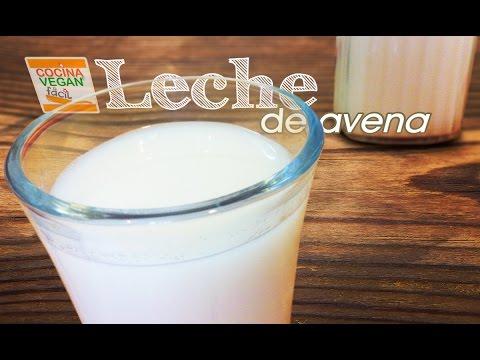 Leche de avena (no viscosa) - Cocina Vegan Fácil