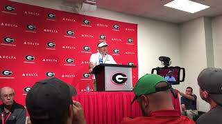 Georgia Head Coach Kirby Smart After Middle Tennessee Win Part One 9-15-18