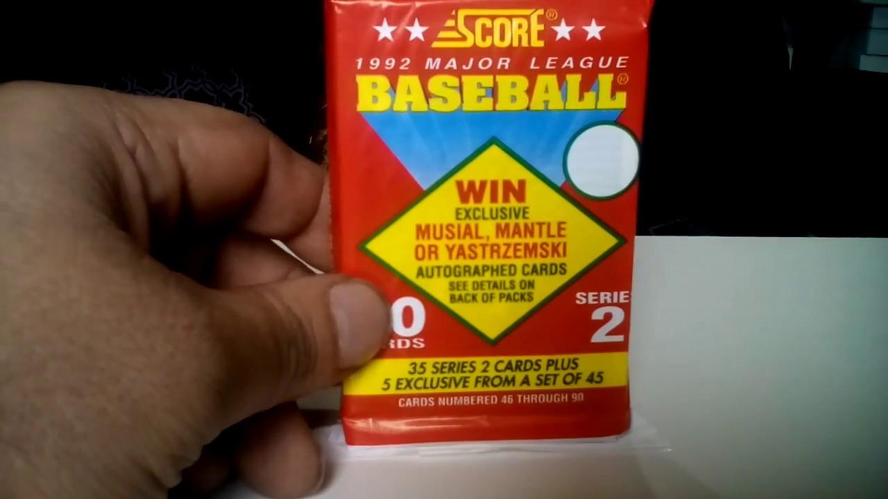 1992 Score Baseball Series 2 Jumbo Pack Break Opening With 5 90s Impact Players Inserts