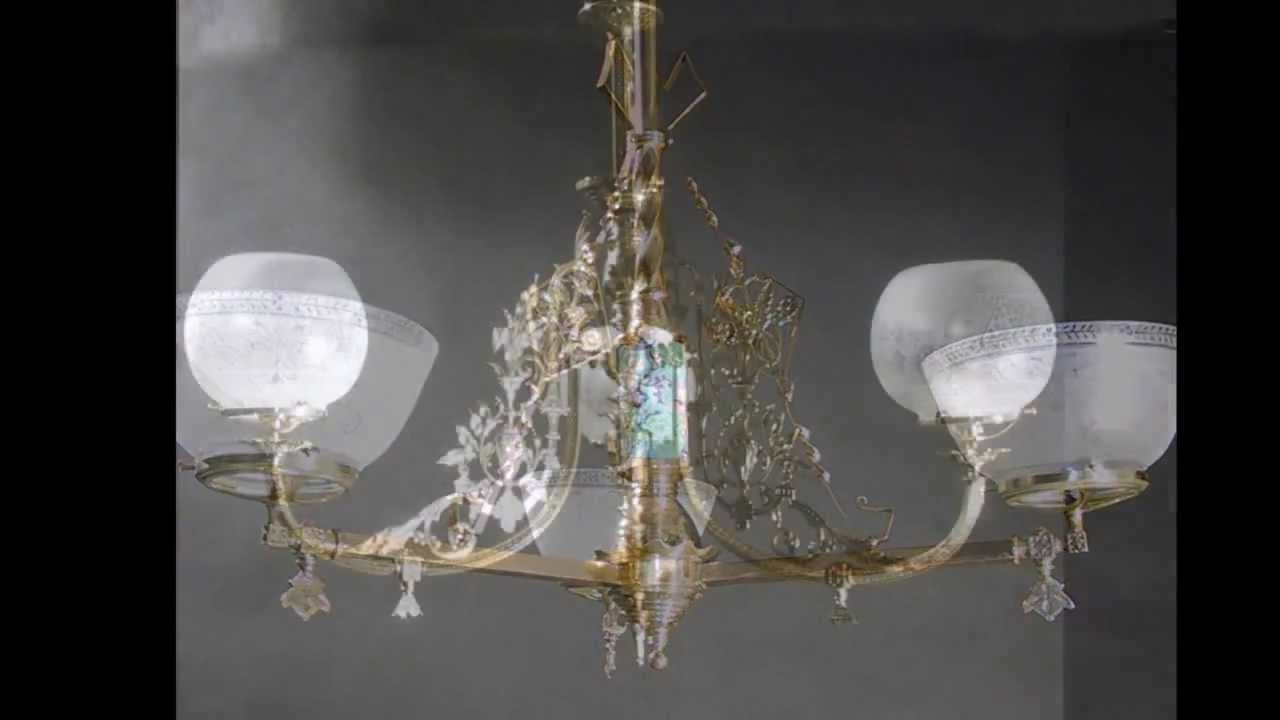 Own A Piece Of History - Sold Antique Gas Chandelier from 1850 - 1890 - Own A Piece Of History - Sold Antique Gas Chandelier From 1850