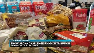 #ShowAlohaChallenge June 2, 2020 - Food Drive