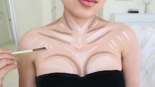 Contour your Chest with Makeup !!!