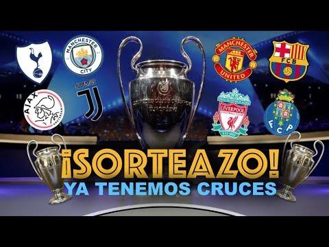 ¡SORTEO DE CUARTOS DE FINAL DE LA CHAMPIONS!   UNITED VS BARCELONA