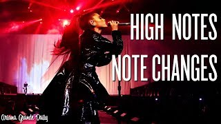 Ariana Grande - ALL Note Changes & High Notes (Dangerous Woman Tour)