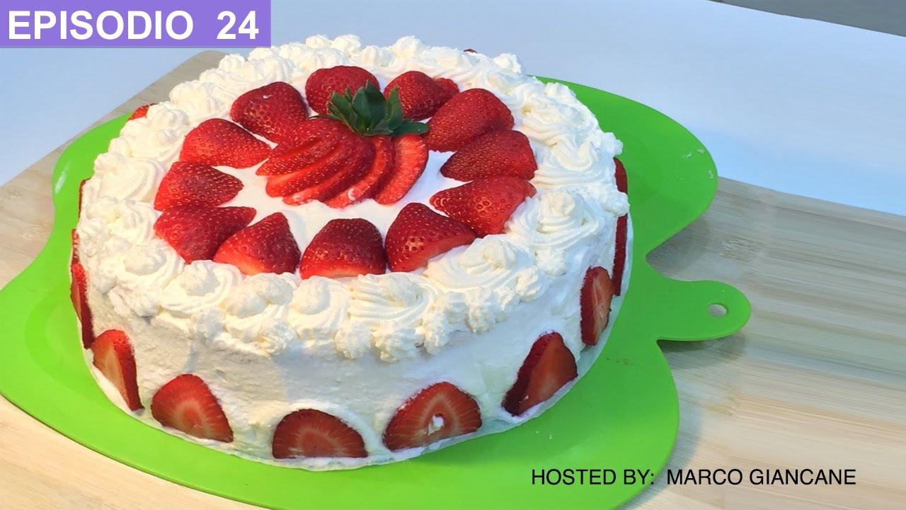 Tarta de fresas y crema de leche receta facil italiana for Como decorar una torta facil y rapido