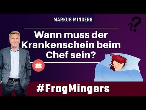 Wann muss der Krankenschein beim Chef vorliegen? | #FragMingers