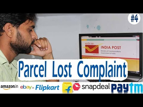Parcel Lost Complaint In India Post