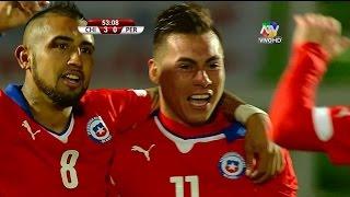 chile vs peru 3 0 resumen y goles partido amistoso internacional 2014   10 10 14