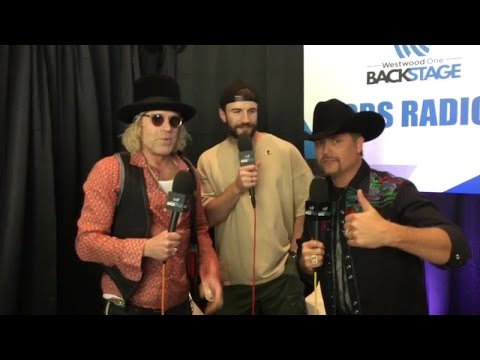 Big And Rich Backstage With Sam Hunt At The ACMs!