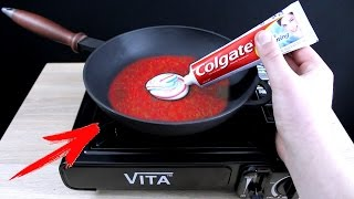 EXPERIMENT What Happen if You Drop Toothpaste into HOT PAN thumbnail