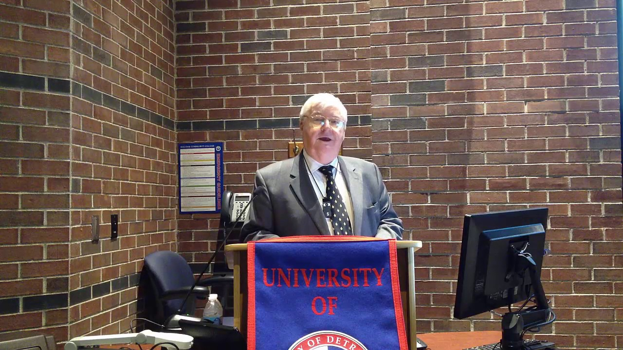 Harry C. Veryser Detroit Mercy 2017 Economic Symposium Video