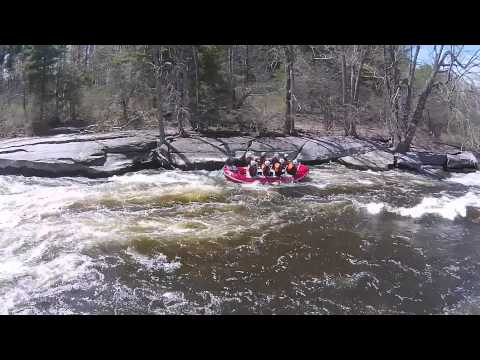 White Water Rafting on the Black River, Watertown NY Aerial Drone Video