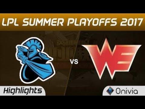 New  NB vs WE Highlights Game 3 LPL SUMMER PLAYOFFS 2017 NewBee vs Team WE by Onivia