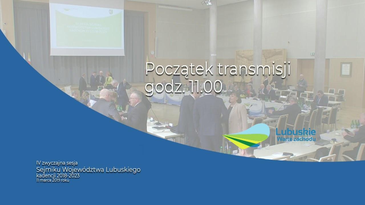 IV sesja Sejmiku Wojewodztwa Lubuskiego