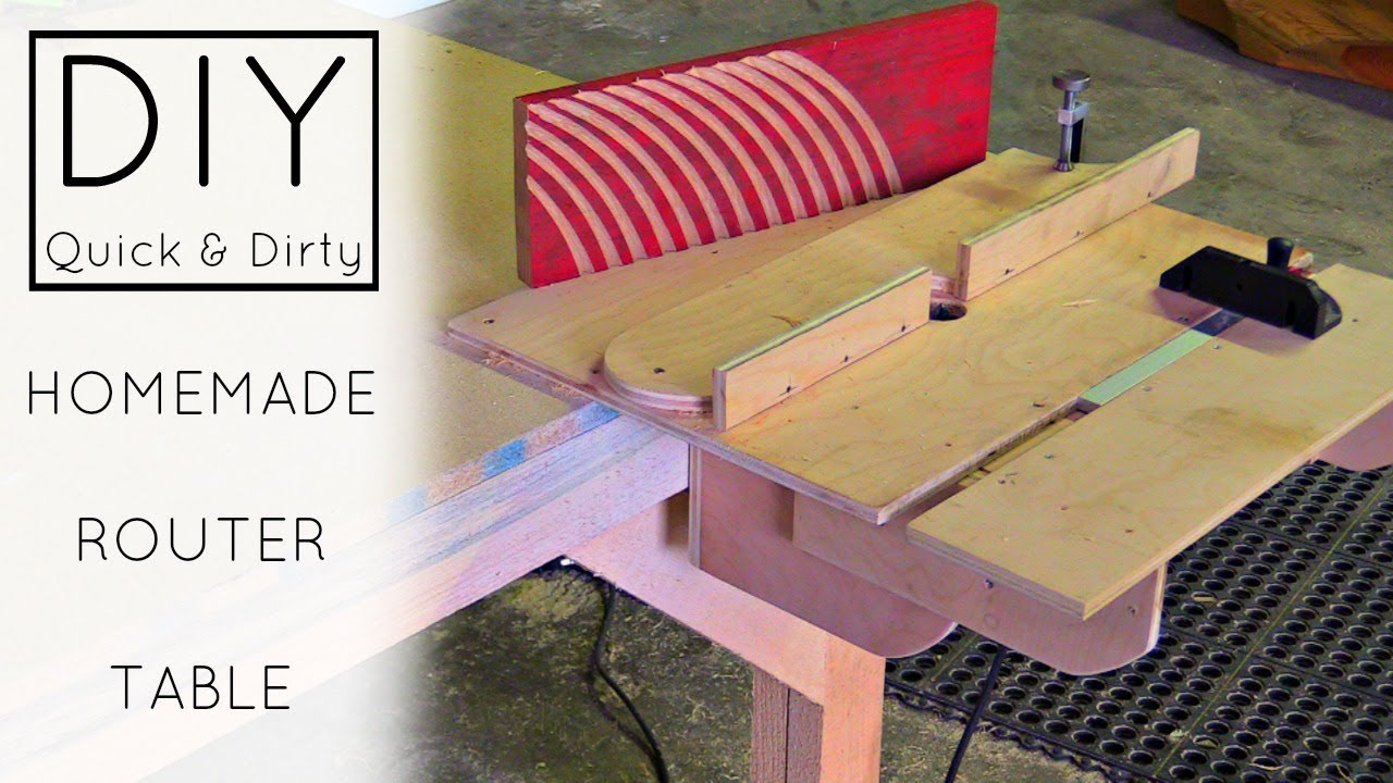 Diy easy homemade router table izzy swan youtube diy easy homemade router table izzy swan keyboard keysfo Choice Image
