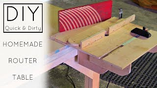 DIY - Easy Homemade Router Table | Izzy Swan