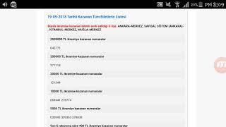 Milli Piyango Çekiliş Sonuçları 19 Eylül 2018 (Tam Liste)