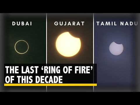 Watch: The Last Solar Eclipse (The Ring Of Fire) Of The Decade