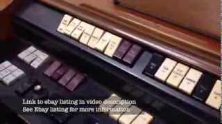 Vintage 1964 Wurlitzer Organ eBay Listing