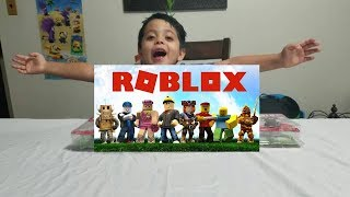 Roblox Champions Characters Unboxing Fun Kids Toys. Kosta's Toy Bag Toy Review.