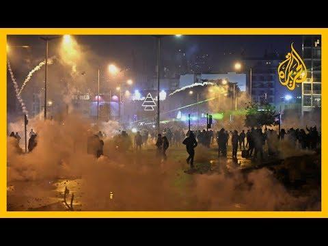 مصادمات بين متظاهرين وقوات أمن قرب البرلمان ببيروت  - 21:59-2020 / 1 / 18