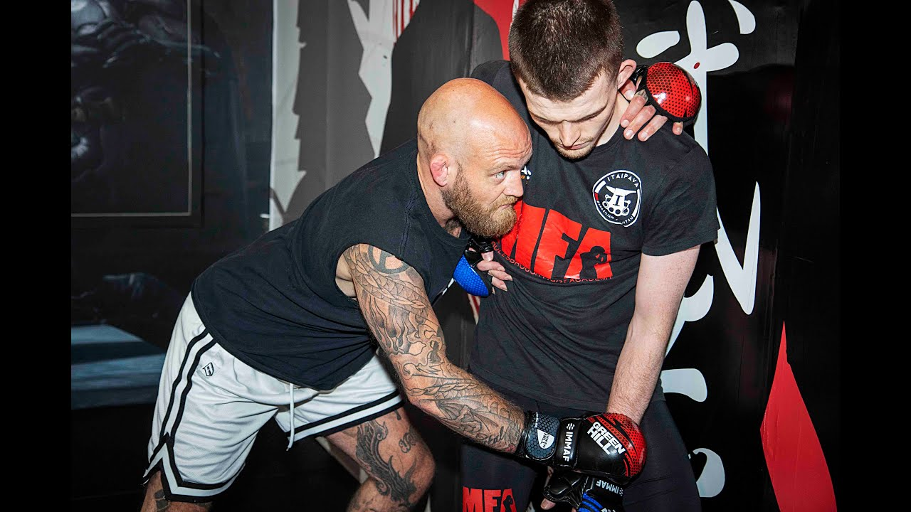 MMA Training - Using the Body Lock to Throw & Suplex off the Cage Wall with Peter Irving