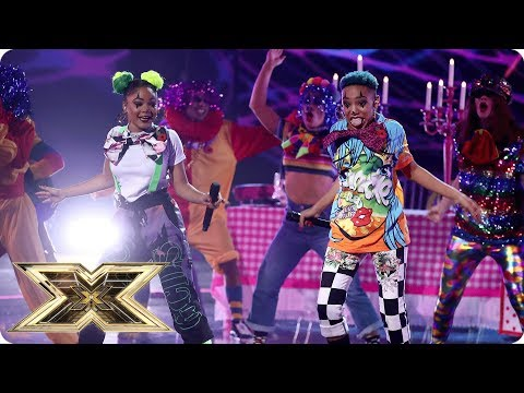 Acacia & Aaliyah sing Kriss Kross' Jump | Live Shows Week 3 | The X Factor UK 2018