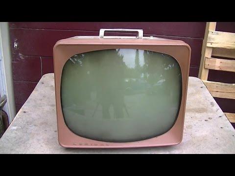 1958 Admiral 15C1 Black and White Tube TV Repair