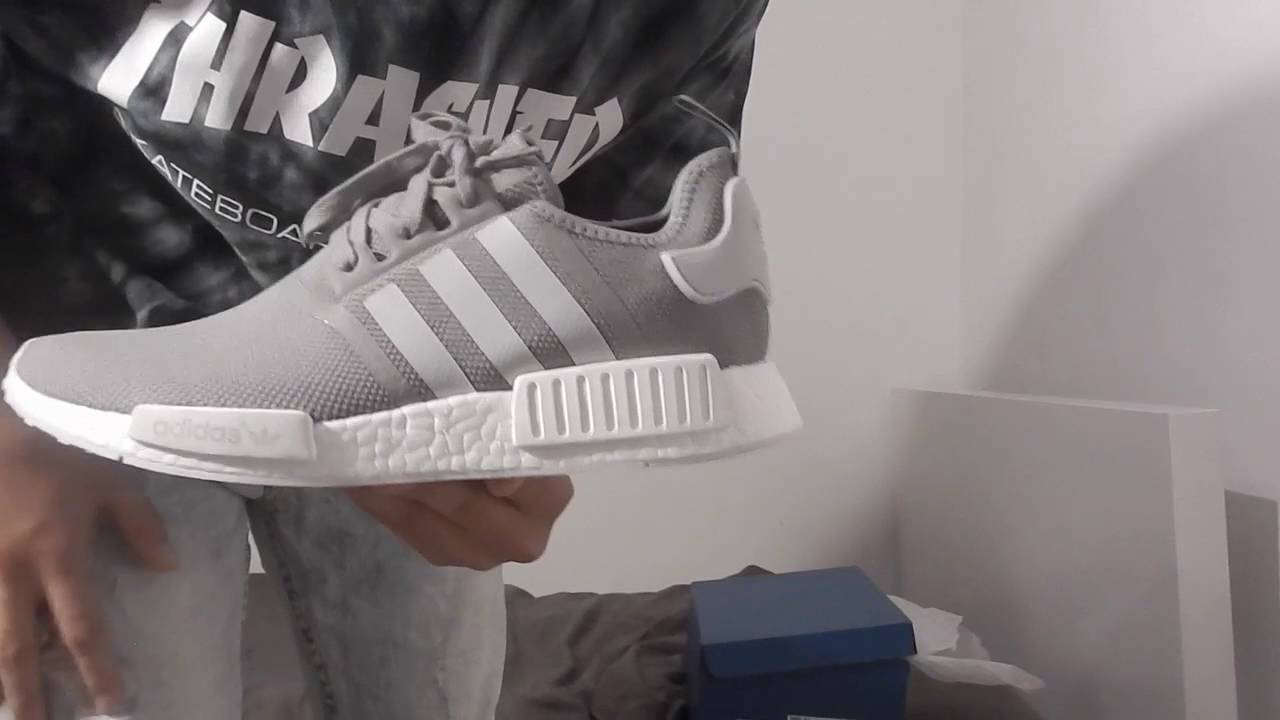 5746e6615 Adidas NMD Grey Review (on foot) - YouTube