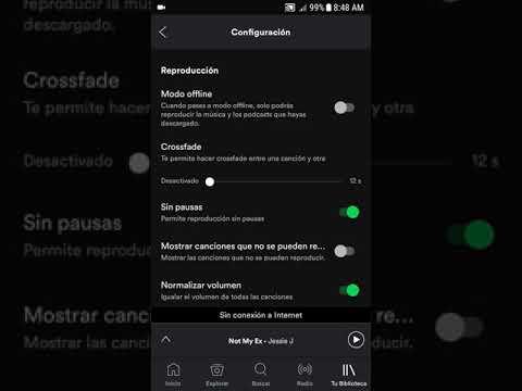 Como guardar la musica de Spotify en la SD tarjeta de memoria externa Enero 2018