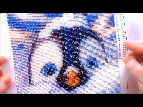 Penguin - 4D Diamond Painting Kit - Full Process Timelapse 🌞