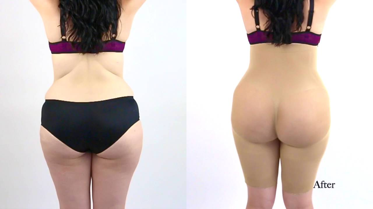 cb87e35c5 Seamless body shaper and butt lifter. - YouTube