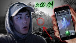 DO NOT USE THIS GHOST TRACKER APP AT 3AM! CEMETERY GHOST HUNTING AT 3:00 AM (GONE WRONG)