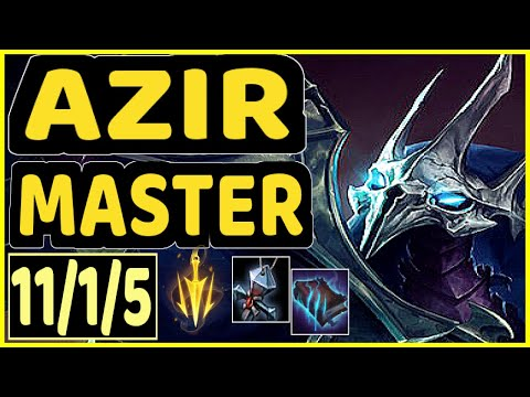 KIRA (AZIR) - 11/1/5 KDA MID GAMEPLAY - EUW Ranked MASTER