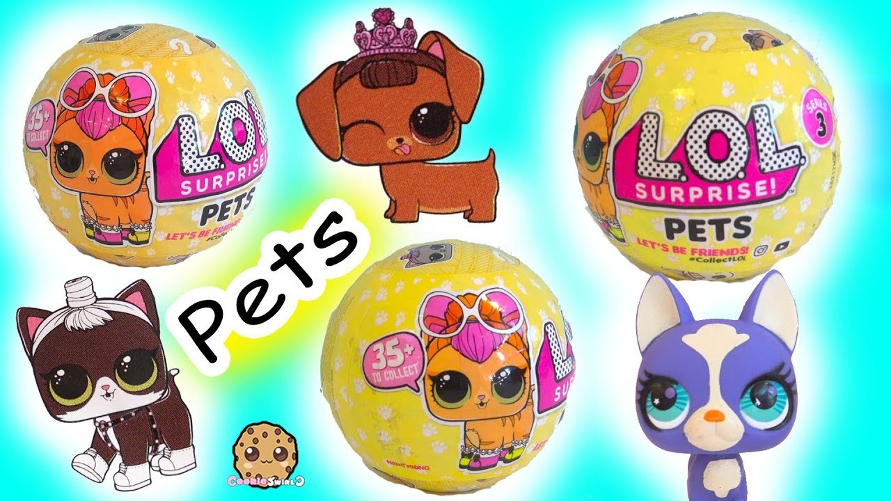 Lol Surprise Pets Blind Bag Balls Litter Box Sand Poop Pee