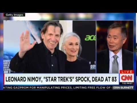 George Takei on death of Leonard Nimoy (CNN, 2/27/2015)