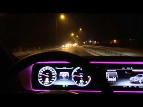 2016 Mercedes-Benz S-Class S350 Long Test Drive Night Driving ILS Led Lights Jazda Testowa part 2