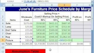 Excel Magic Trick 285: Markup On Sell Price Formula