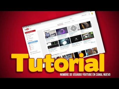 Como encontrar mi usuario youtube en mi canal nuevo