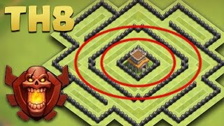 Town Hall 8 Best TROPHY Base - AnTi 2 Star [TH8 TROLL Pushing] The Circle 2016 + Replays