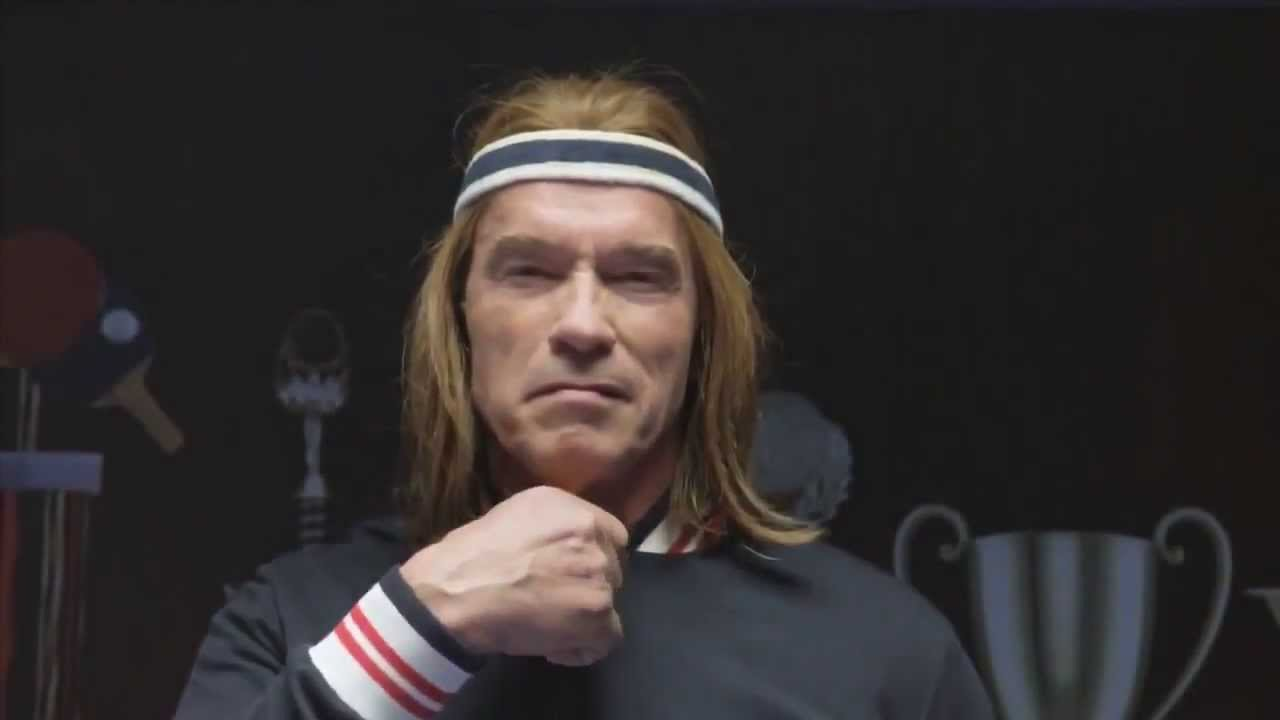 Arnold schwarzenegger plays ping pong for bud light super bowl 2014 arnold schwarzenegger plays ping pong for bud light super bowl 2014 youtube aloadofball Image collections