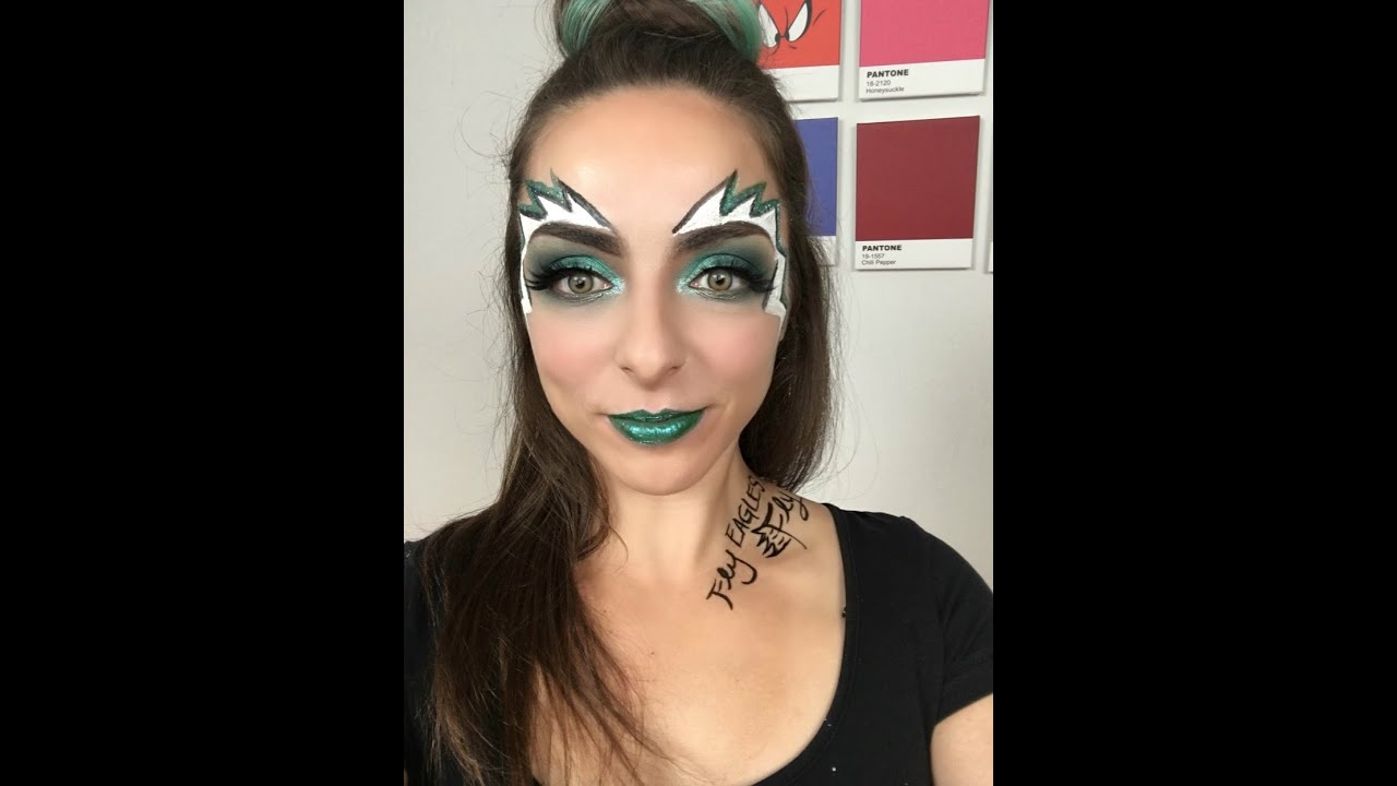 Youtube Makeup Tutorials Popular: Philadelphia Eagles Makeup Timelapse